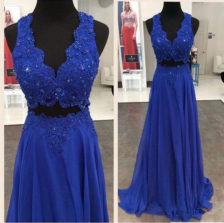 Two Pieces Beading Prom Dress,Long Prom Dresses,Charming Prom Dresses,Evening Dress, Prom Gowns, Formal Women Dress,prom dress,F224
