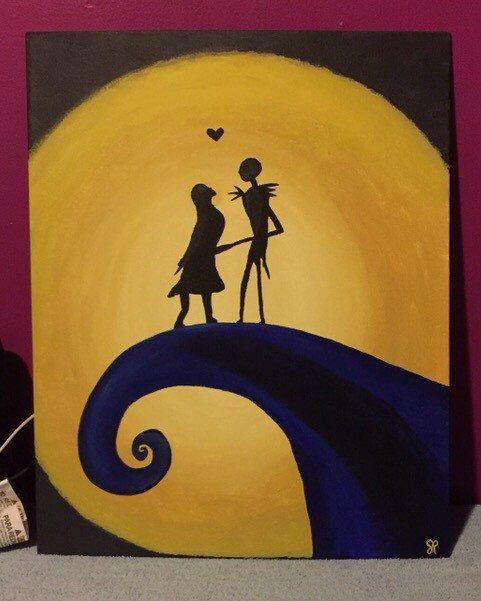 A Jack & Sally Love, The Nightmare Before Christmas by WholeNewWorldOfArts on Etsy https://www.etsy.com/listing/217943515/a-jack-sally-love-the-nightmare-before