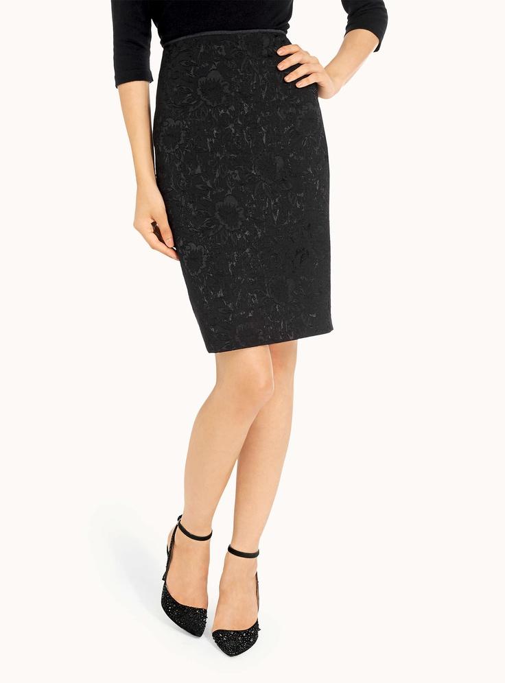 Brocade Pencil Skirt / Simons