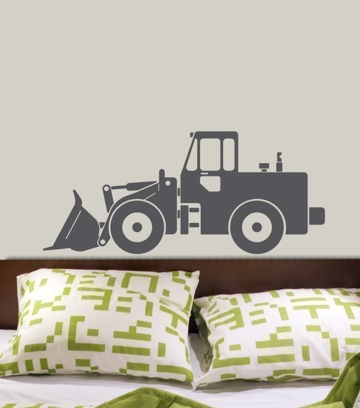 Bulldozer Tractor Construction Vinyl Wall Decal Original