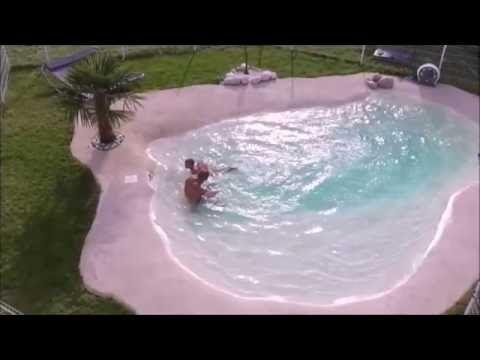 Les 25 meilleures id es de la cat gorie piscine semi for Piscine en caoutchouc