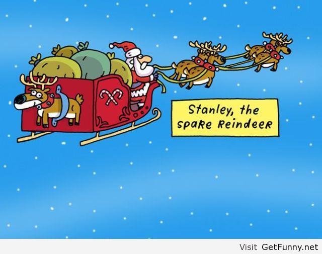 Funny Christmas Cartoon With Santa