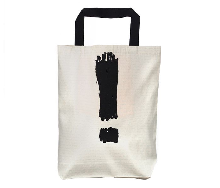 ATTENTION   Screen printed eco-friendly bag   Design by Nutty Tarts   by BAGNANAS