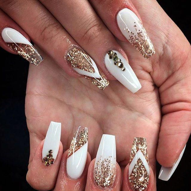 Diy French Nails Ideas Frenchnailtipsclassy Gold Acrylic Nails White Acrylic Nails Nail Designs