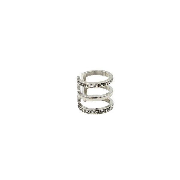 Silver Hollow Knuckle Ring