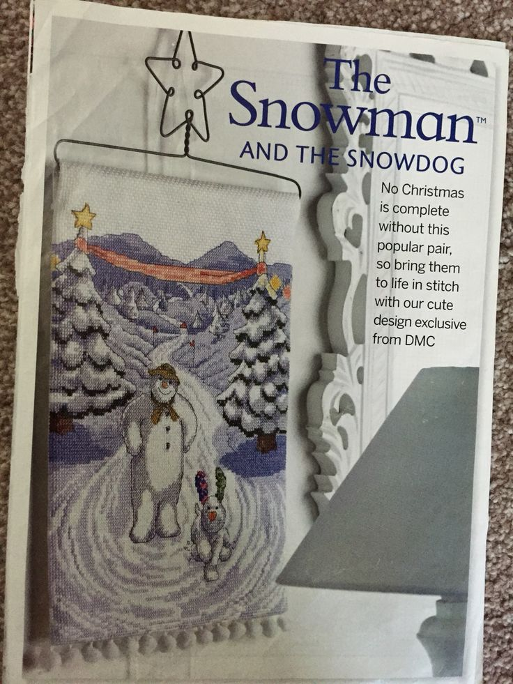 The Snowman and The Snowdog by DMC, chart from Cross Stitch Collection Christmas 2013 (project box)