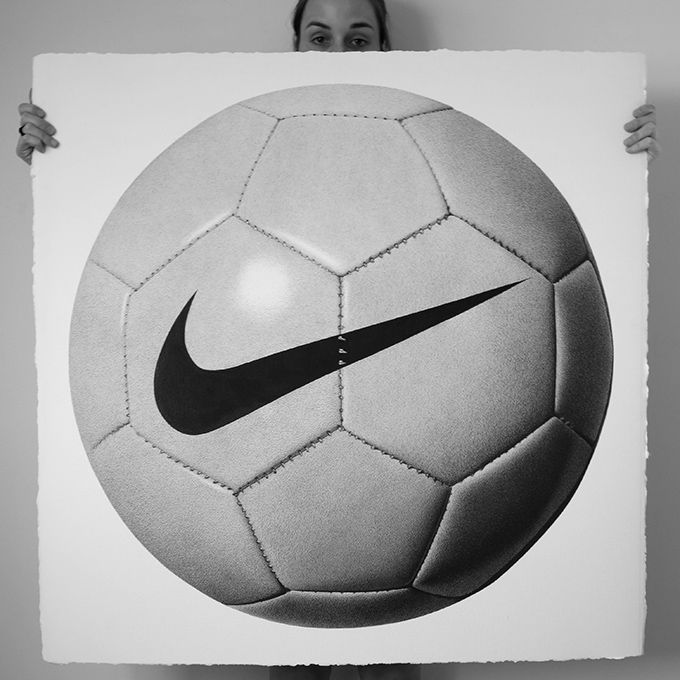 Drawn with a Pen - Nike Soccer Ball http://www.thecoolhunter.com.au/article/detail/2280/new-artworks-by-cj-hendry--pen-on-paper