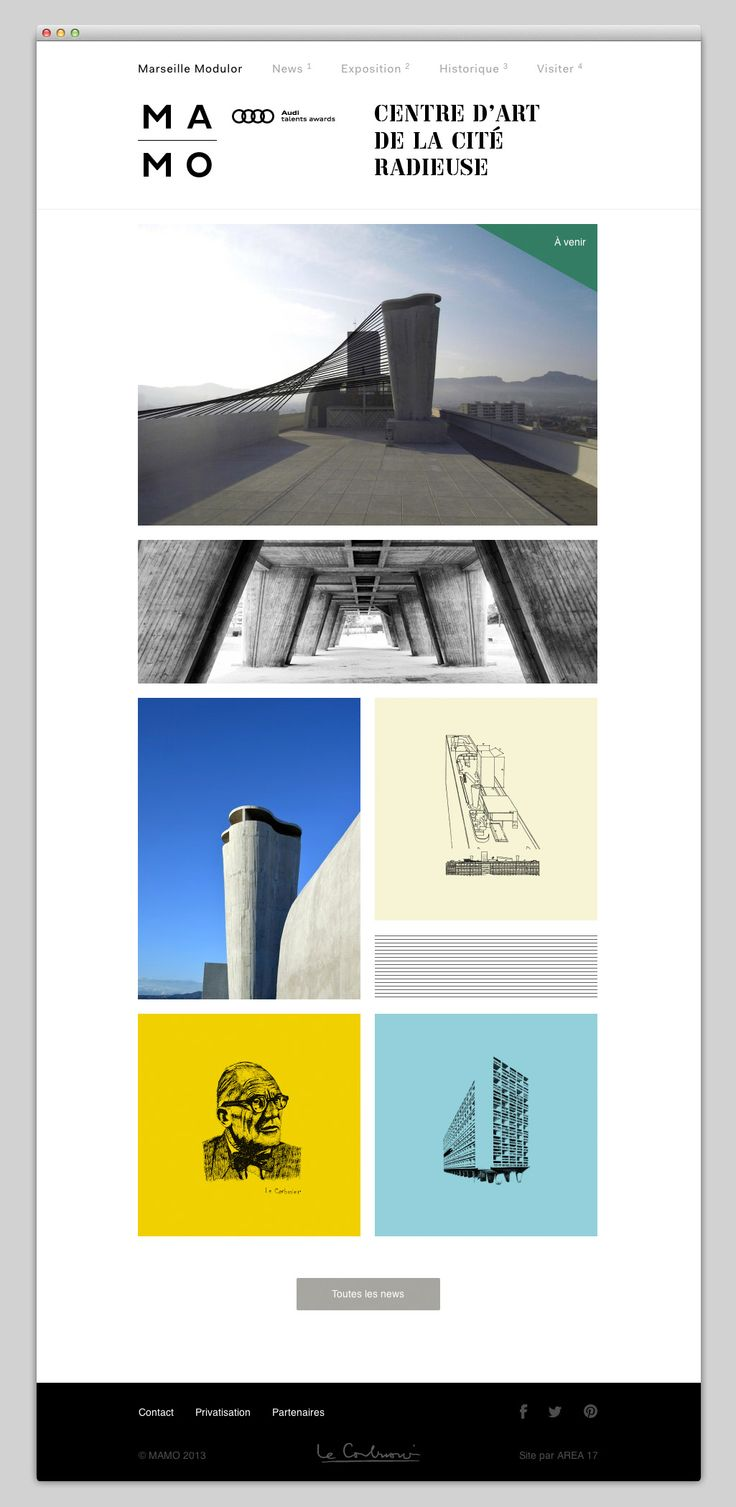 Marseille Modulor, Centre d'art de la cité radieuse | #minimal #website #design