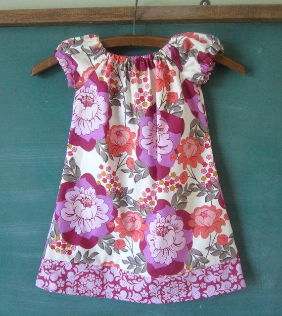 Geranium Peasant Dress