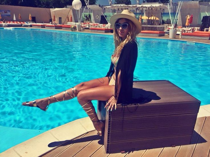 Because I love gladiator sandals.alina eremia,Romanian singer is wearing them perfectly