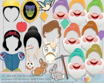 Principessa sirena & sorelle Photo Booth Props di JoJoDigitalStore