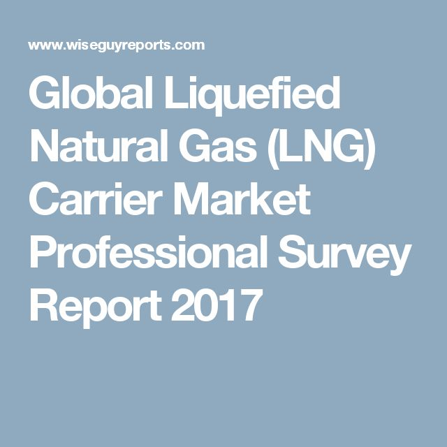 Global Liquefied Natural Gas (LNG) Carrier Market Professional Survey Report 2017