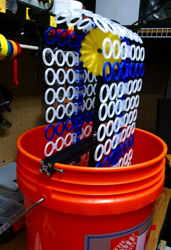 """Thingiverse member Scratchhax has created an amazing 3d printed """"Bubble Bucket"""" that can blow out 14,000 bubbles per minute. 3DPrint.com made a video of the machine in action and interv…"""