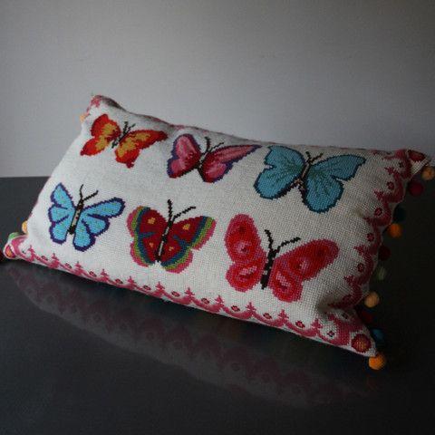 6 Bright Butterflies Cross Stitch Kit - Version 1
