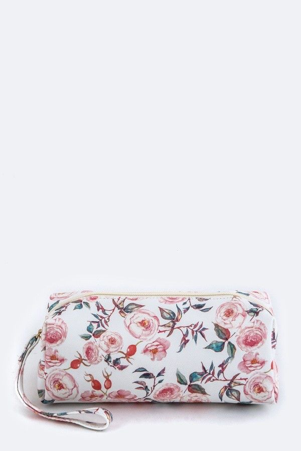 Flower Print Wristlet