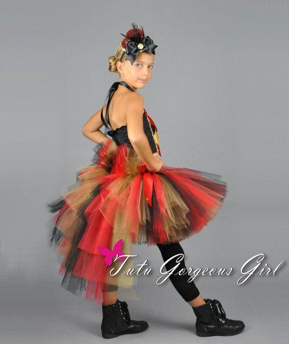 Halloween Circus Ringmaster Bustle Tutu...Red by TutuGorgeousGirl