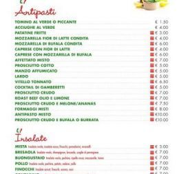 Menu | MICHI & LA MANTIA SNC