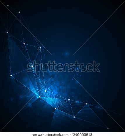 Abstract Technology background with cyberspace ,circles, lines and shapes