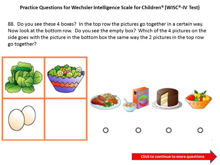 Practice questions for the WICS IV: Third Grade to Fourth Grade ...