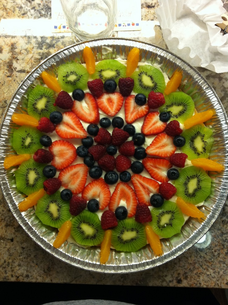 ... fruit pizza on Pinterest | Deep dish, Mini fruit pizzas and Sugar
