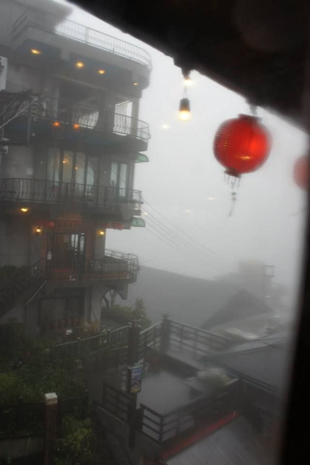 The view whilst experiencing Taiwan's traditional tea culture. Located in one of Taipei's most famous destinations, 'Jiufen'; an old street that inspired Hayao Miyuzaki's 'Spirited Away'. It's a real life spirited away :D