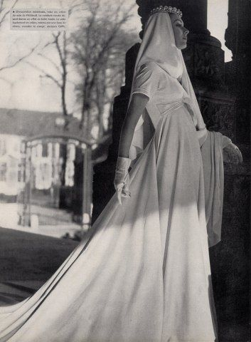 Jacques Griffe 1953 Wedding Dress Fashion Photography
