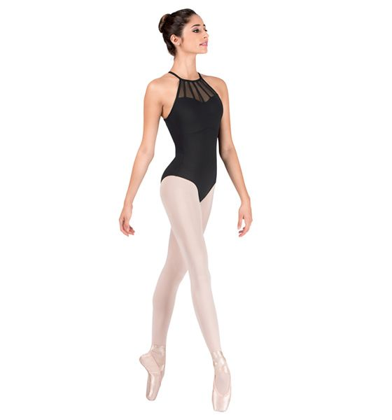 Adult Microfiber Halter Mesh Leotard - Style Number: NC8811 $33.50 http://www.discountdance.com/dancewear/style_NC8811.html?pid=22281&Shop=Brand&SID=618601042 #discountdance #nataliecouture