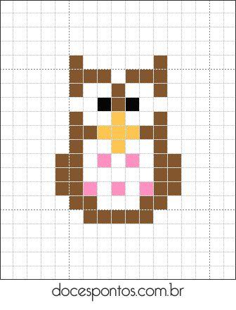 Owl hama perler beads pattern