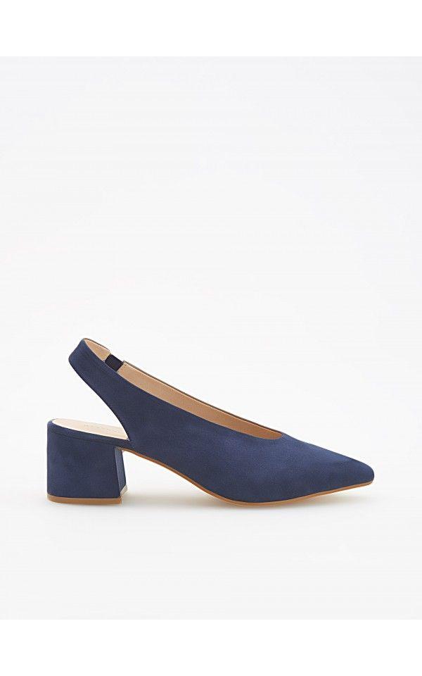Pantofi cu călcâi descoperit, Încălţăminte, bleumarin, RESERVED