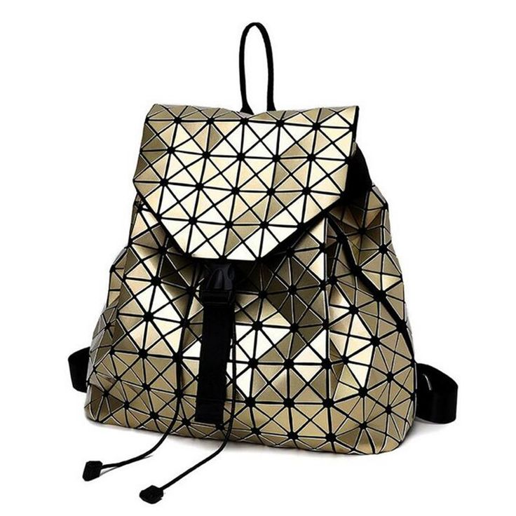 2017 Women BaoBao backpack female Fashion Girl Daily backpack Bao Bao Geometry Package Sequins Folding Bags School Bags