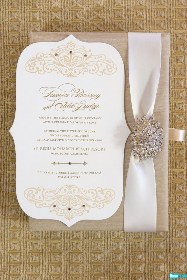 Tamra Barney S Wedding Invitation Christine Photography