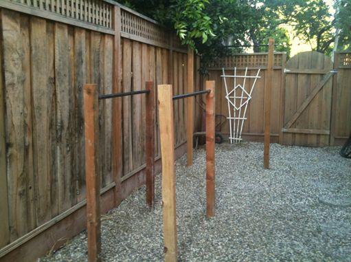 DIY parallel bars & pullup bar