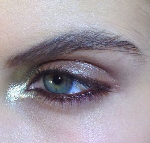 Metallic eye @violetgrey