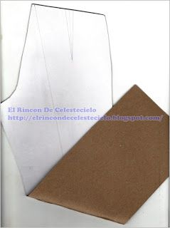 Patrón de pantalón en cartón cartulina