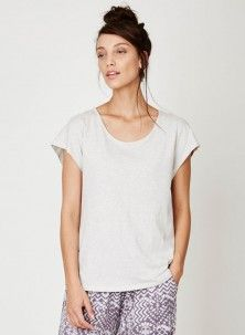 Rosa Organic Cotton Jersey Top Oatmeal
