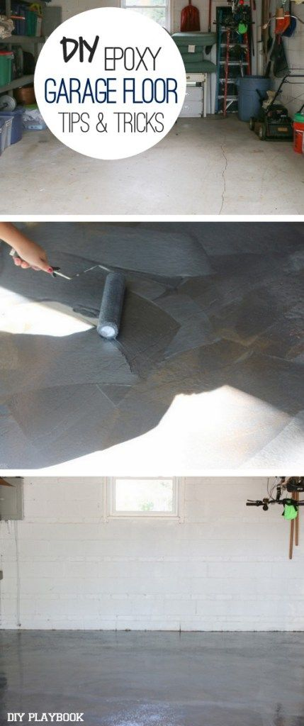 DIY epoxy garage floor tips and tricks. If you're thinking about tackling this DIY project then you definitely want to read these tips before you get started. Makeover your garage with this DIY project idea.