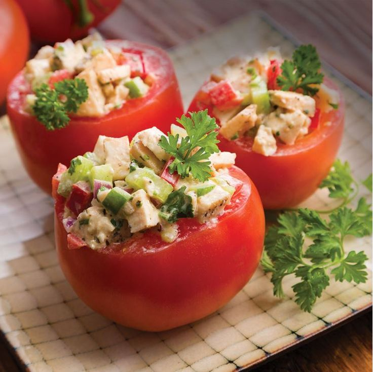 A simple recipe, these stuffed tomatoes are perfect for any meeting.