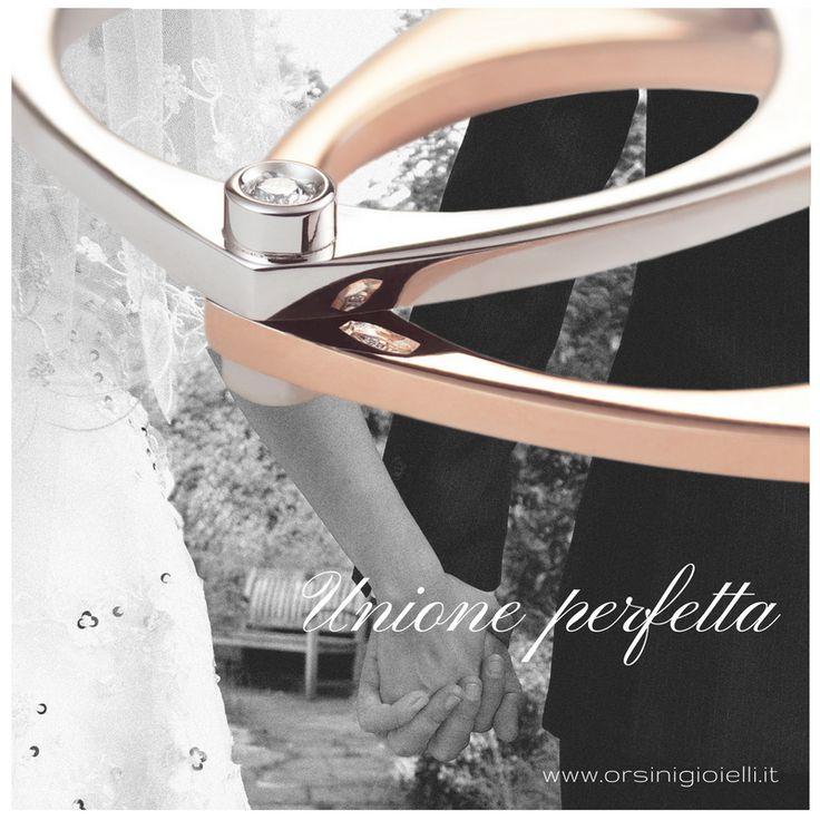 Condividi la tua unione perfetta! ♡  Amore non è guardarci l'un l'altro, ma guardare insieme nella stessa direzione.(Antoine de Saint-Exupéry)  www.orsinigioielli.it #eternallove #weddingbands #promisering