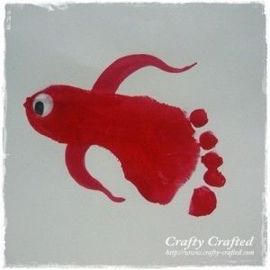 Footprint Fish « Animal Crafts « Crafty-Crafted.com