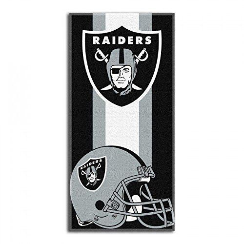 NFL Oakland Raiders Zone Read Beach Towel 30x60 Black *** To view further for this item, visit the image link.