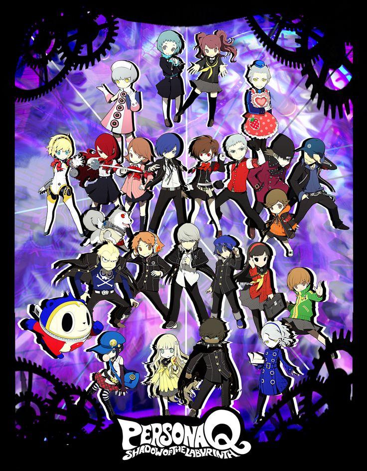 Persona Q All P3 and P4 teams Poster by xMakeDamnSurex.deviantart.com on @DeviantArt