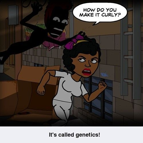 Its genetics. #naturalhair #teamnatural #lol #curly #hair #afro #naturalhairproblems lmao this is so funny I get this question ALOT