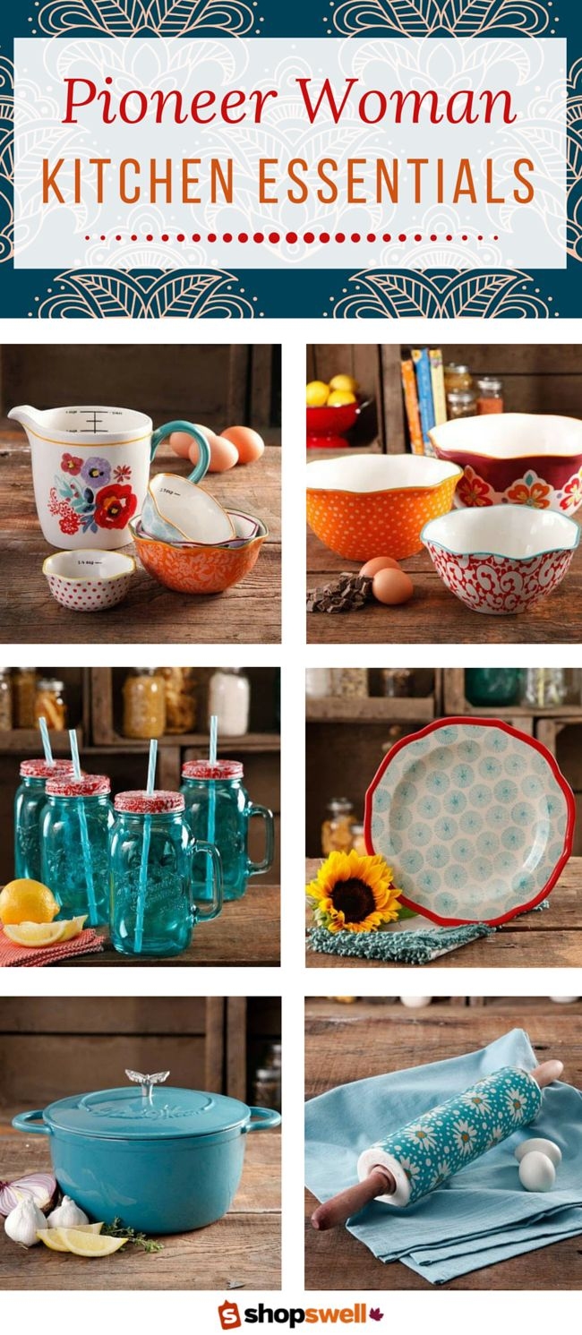 Get inspired by Ree Drummond's fabulous kitchen, cooking and dinnerware products. Start creating your very own cowgirl style with these Pioneer Woman kitchen essentials.