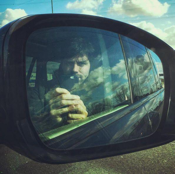 Simon Keizer opweg naar Harderwijk maart 2016