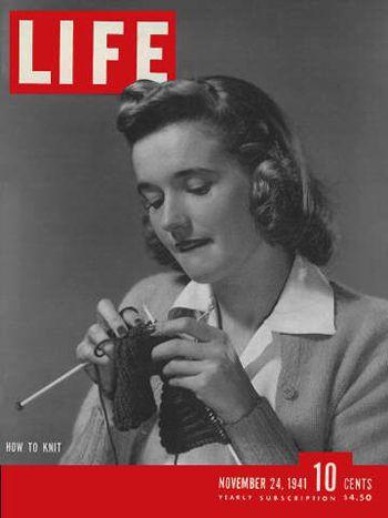 Nov. 24, 1941...how to knit