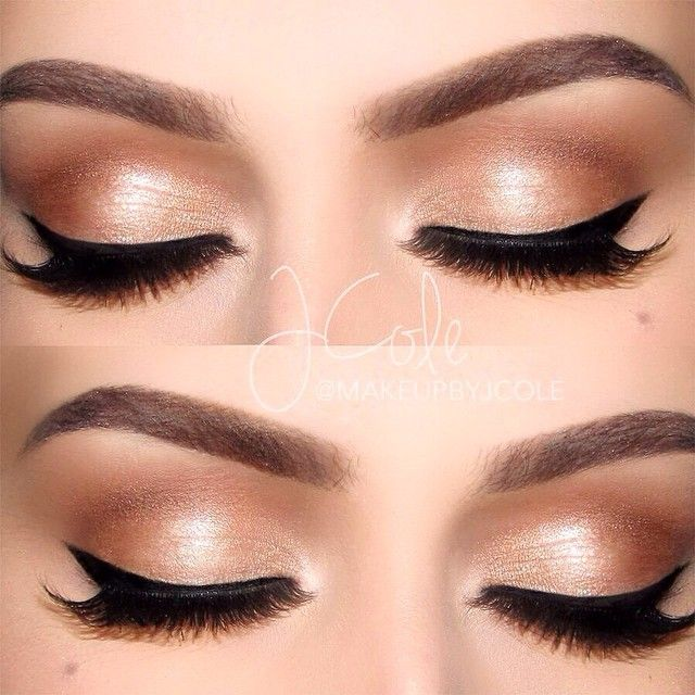 """makeupbyjcoleChampagne-inspired eyes ✨▪️BROWS: @anastasiabeverlyhills Medium Brown Perfect Brow Pencil▪️EYES: Primed with Pro Pencil in Base 1. @anastasiabeverlyhills Shadow Couture World Traveler palette (""""Bellini"""" and """"Pink Champagne"""" on the lid, """"Fudge"""" in the outer third of the crease, """"Soft Peach"""" as the transition, @anastasiabeverlyhills""""Caramel"""" in the rest of the crease [not included in World Traveler palette])▪️LINER: E.L.F. Liquid liner ▪️LASHES: @ardell_lashes119 lashes and…"""