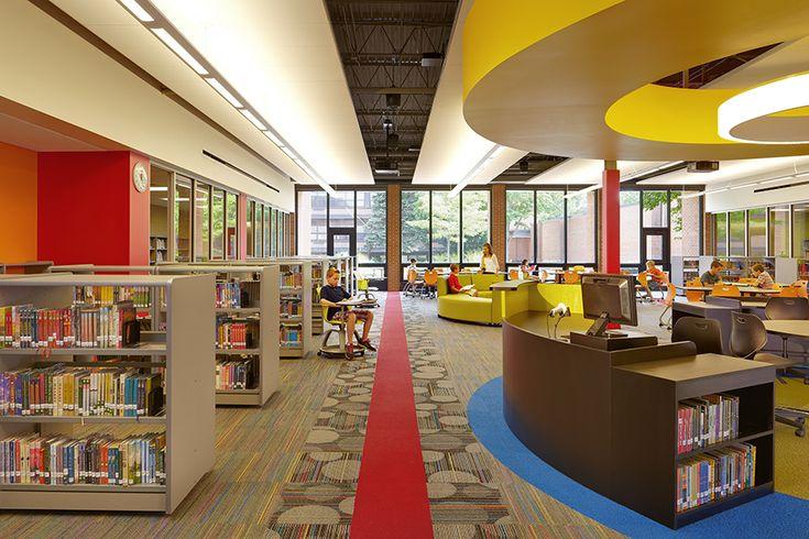 Glen ellyn sd 41 hadley junior high school library media - Interior design schools in atlanta ...