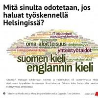 Infographic: Mitä sinulta odotetaan, jos haluat työskennellä Helsingissä?