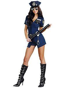 Legou Damen Sexy Lingerie Polizei Polizist Uniform Kostüm schließen Uniform + Hut