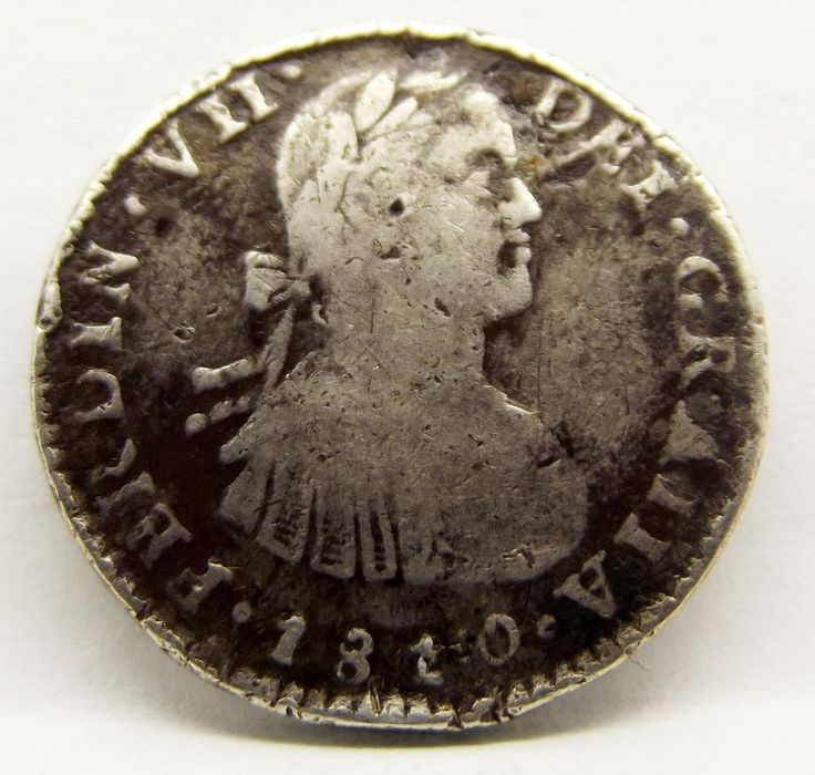 1810 Mexico Spanish Silver One (1) Reale Ferdinand VII